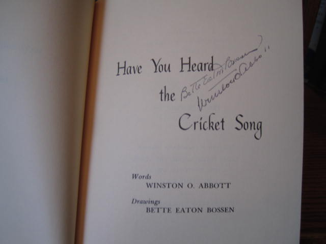Image for Have You Heard the Cricket Song
