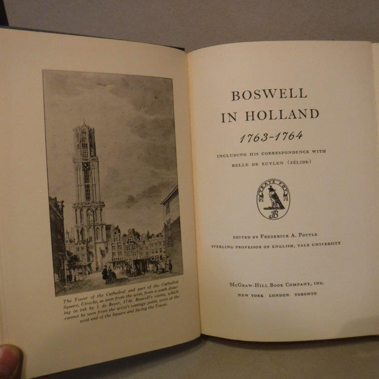 Image for Boswell in Holland 1763-1764 - Including His Correspondence With Belle De Zuylen (Zelide)