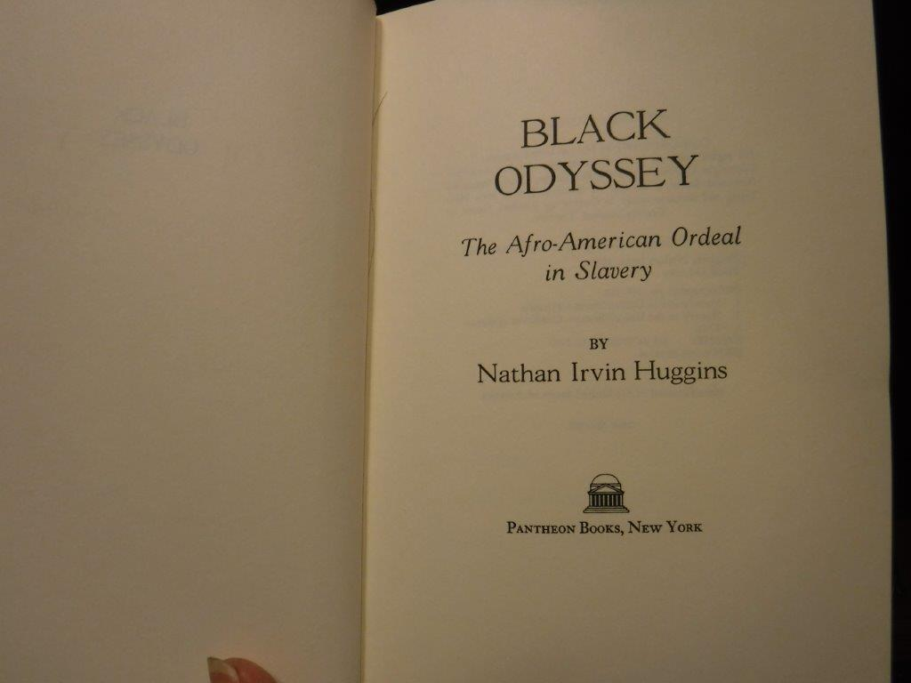 Image for Black Odyssey: The Afro-American Ordeal In Slavery